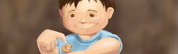 Boy-Gerbil_Painting